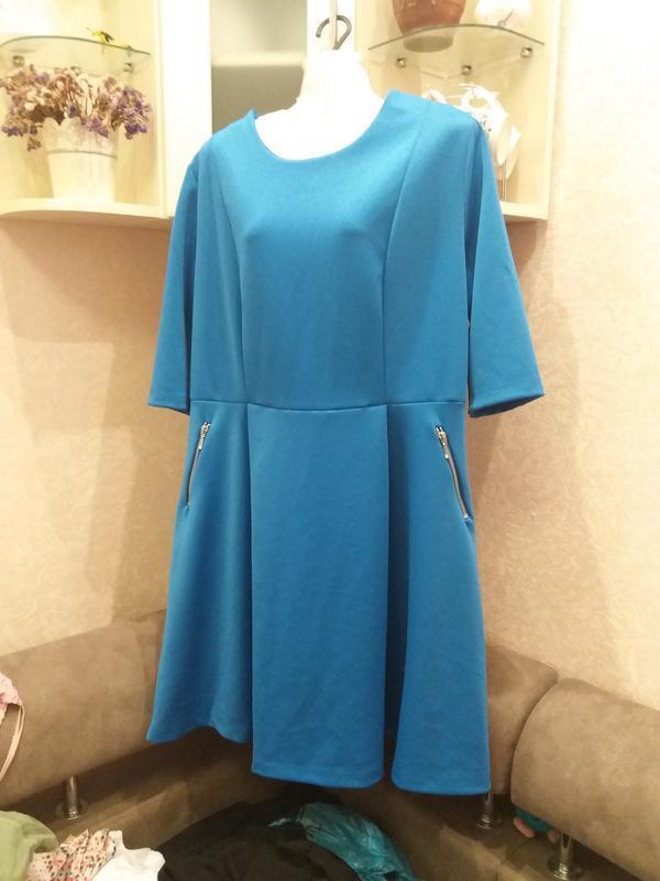 Яркое стильное платье--plus-size--16\18h                      ...