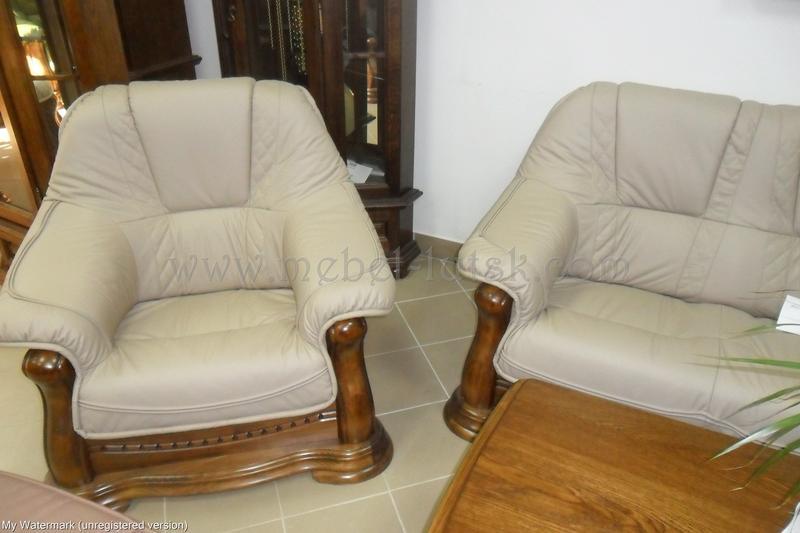 Новый кожаный диван и два кресла Warkos - Фото 3