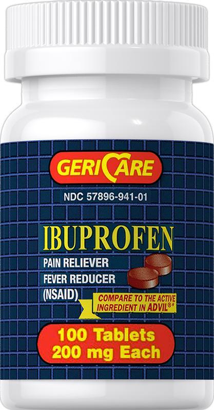 Обезболивающее ibuprofe 200 мг 100 таб. Geri Care США. - Фото 3