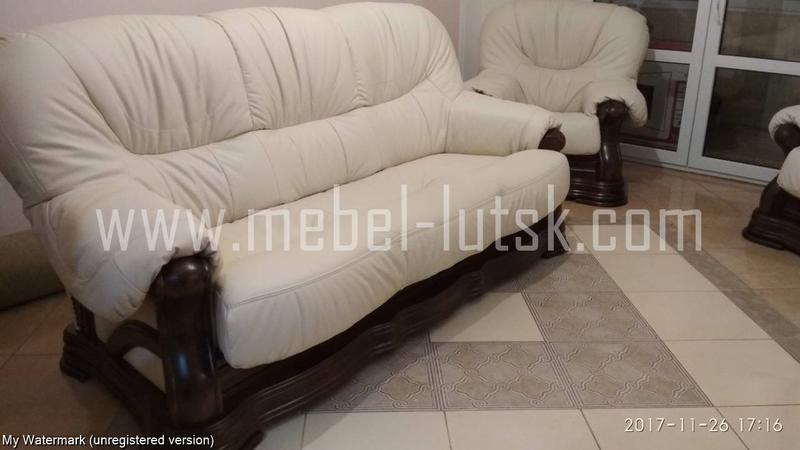 Новый кожаный диван и два кресла Big Ben 3+1+1. Шкіряний диван, к