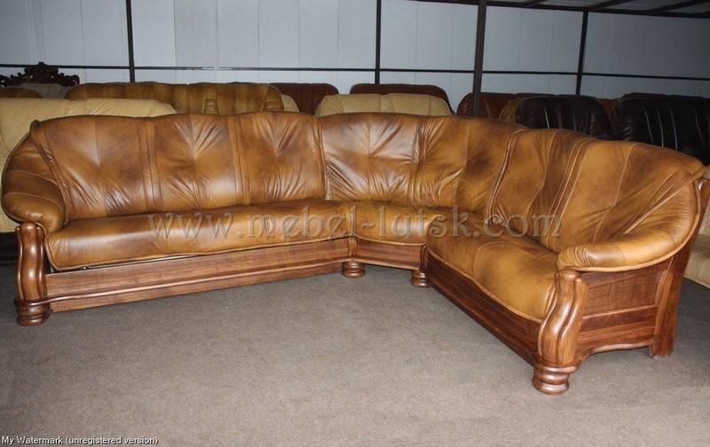 Новий кутовий диван Cabaro, Натуральна шкіра. виробник Польща