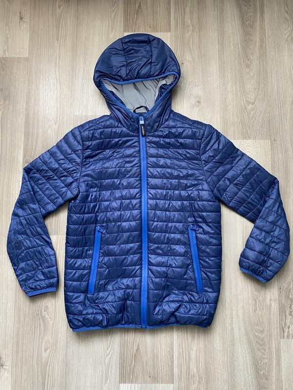 Куртка на мальчика 10-11 лет, синяя весенняя осенняя куртка от...