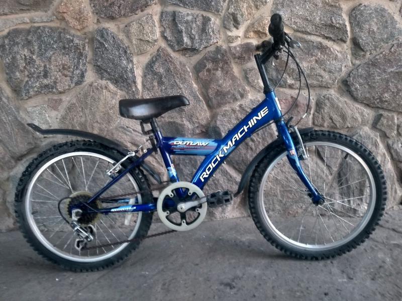 Синий детский велосипед Rock Machine Outlaw 20'' 5-9 лет