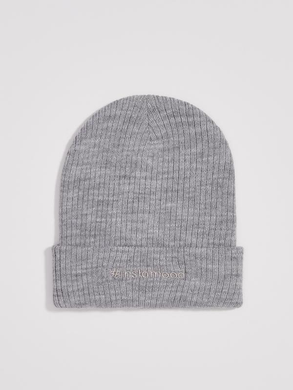 Новая серая шапка польша вышитая надпись #instamood инстаграмн...