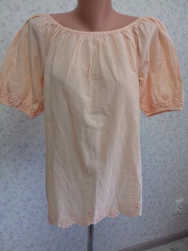 Шикарная блуза из натуральной ткани amy vermont р.л