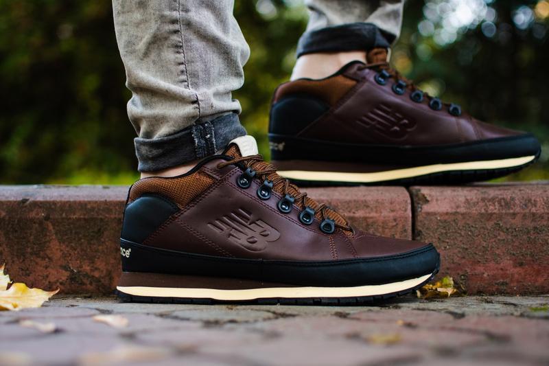 New balance 574 brown. мужские демисезонные ботинки/кроссовки ...
