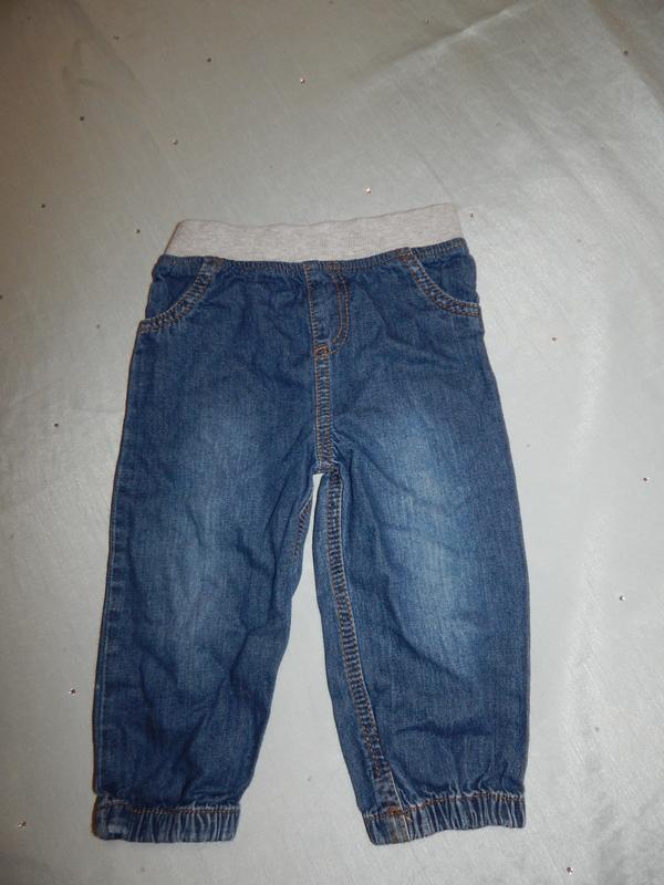 Штанишки джинсовые на малыша 12-18 мес