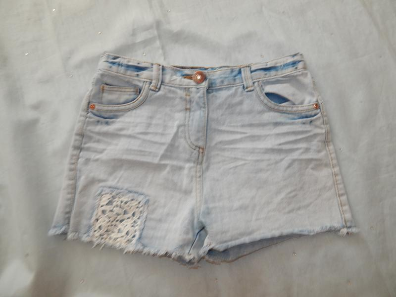 Шорты джинсовые модные на девочку 10 лет 140см