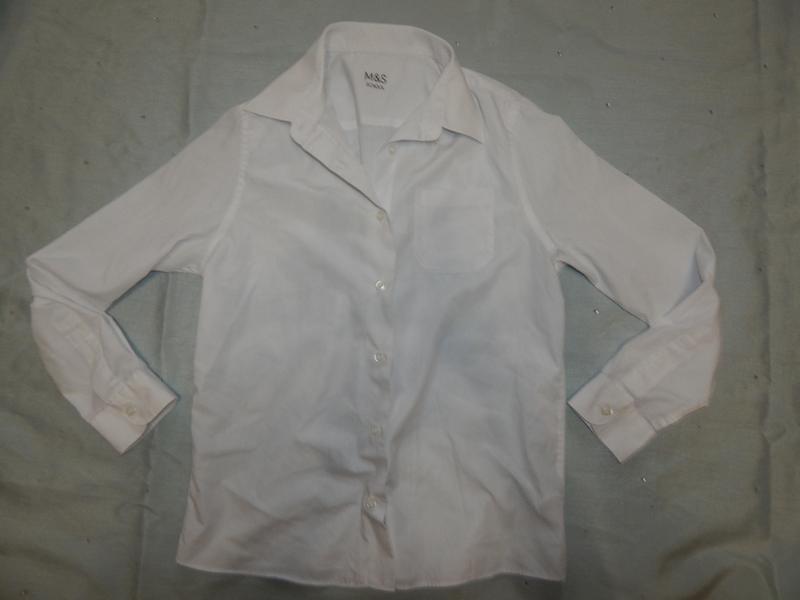 Рубашка на мальчика белая новая школьная нарядная 11-12 лет 15...