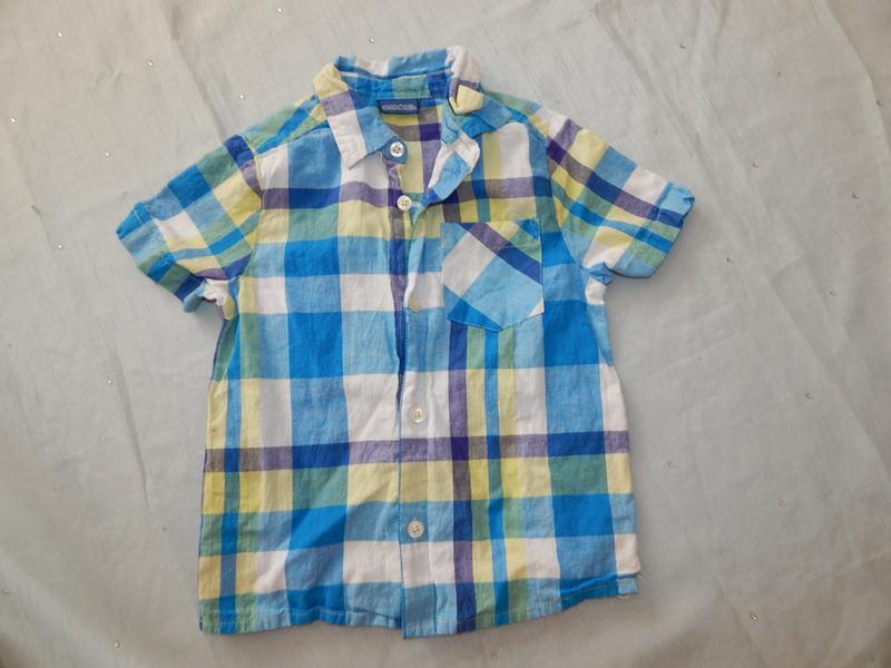 Рубашка на мальчика 3-4 года 104см