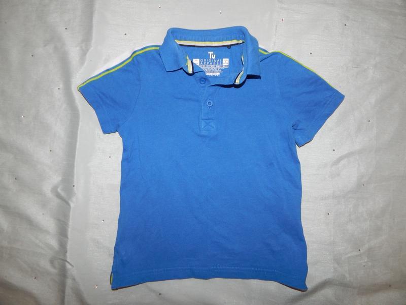 Футболка тениска поло на мальчика 6лет 116см