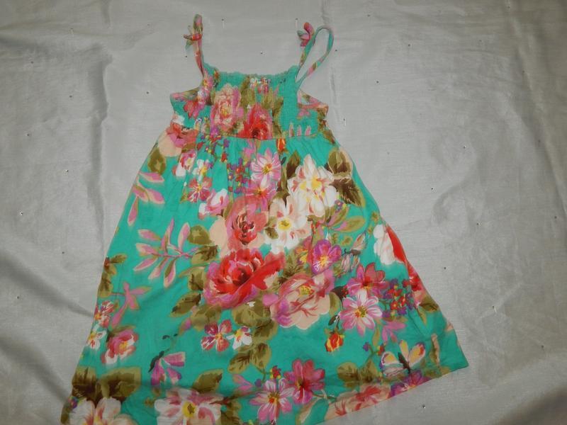 Платье трикотажное легкое на девочку 6 лет 116см