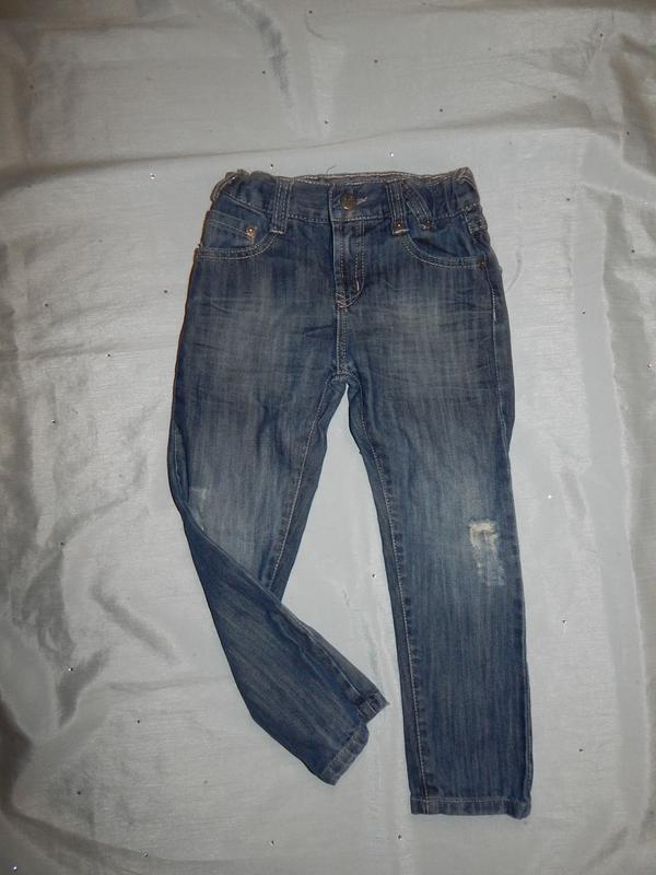 Джинсы на мальчика 3-4 года 98-104см модные с потертостями sou...