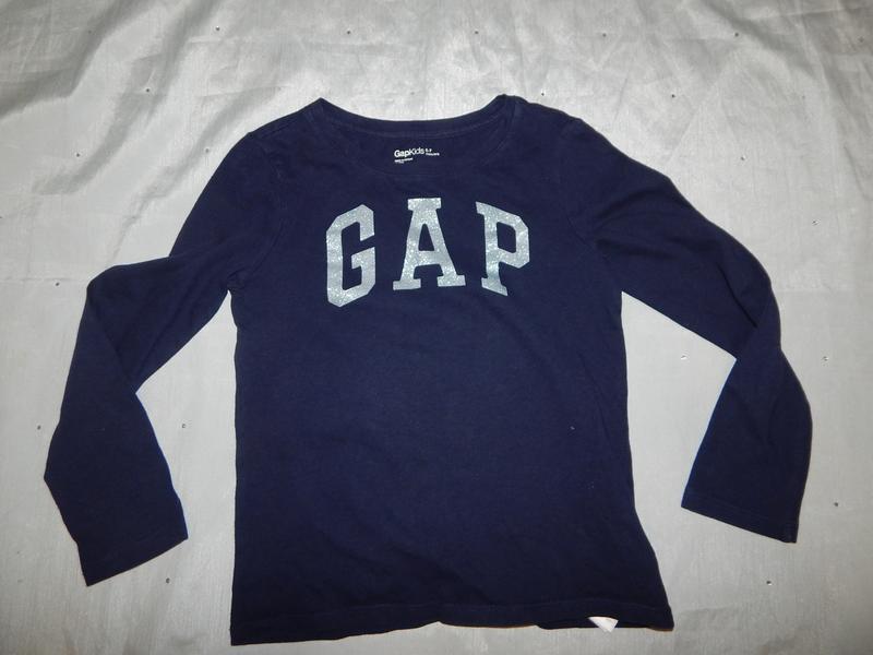 Реглан худди футболка с длинным рукавом gap на девочку 6-7 лет...