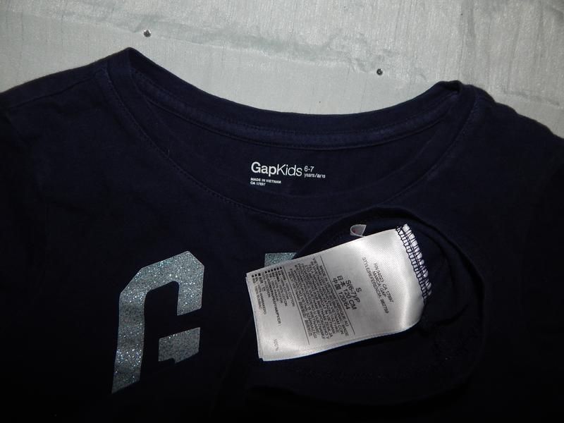 Реглан худди футболка с длинным рукавом gap на девочку 6-7 лет... - Фото 2
