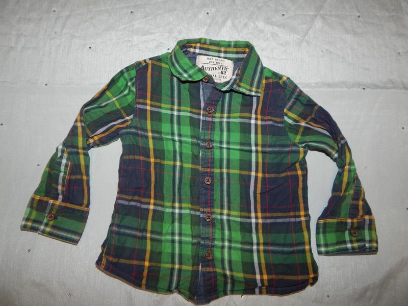 Рубашка в клетку на  мальчика 1,5-2 года 92см next