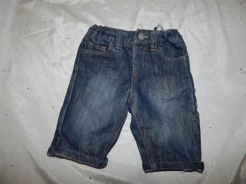 Шорты бриджи джинсовые на мальчика slim  2-3 года 98см