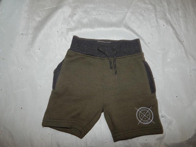 Шорты трикотажные на мальчика модные 2-3 года 98см