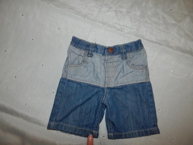 Шорты джинсовые на малыша легкие модные 6-9мес