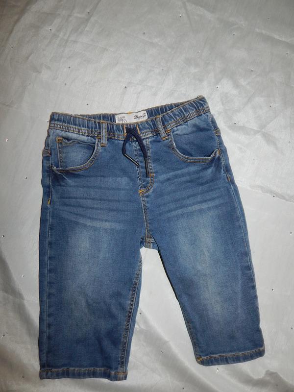 Шорты модные джинсовые на мальчика 11-12 лет 152см