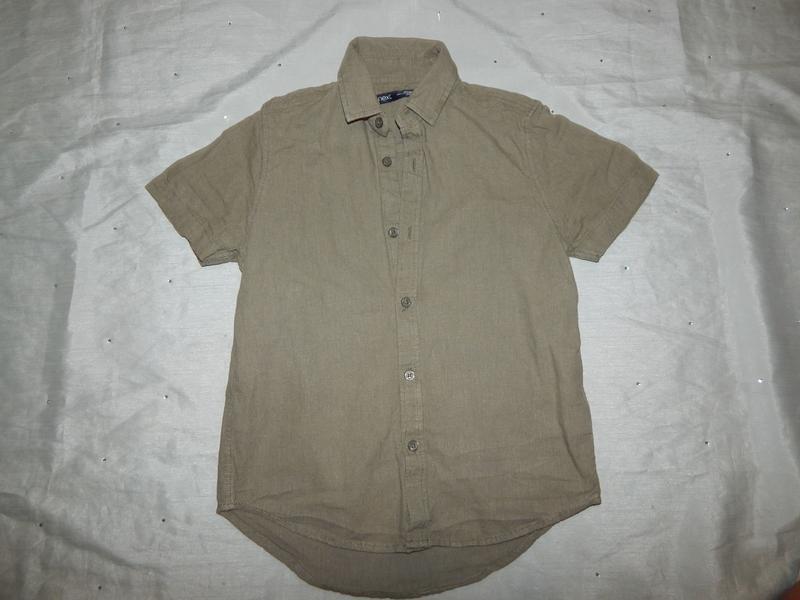 Рубашка на мальчика лен 7 лет