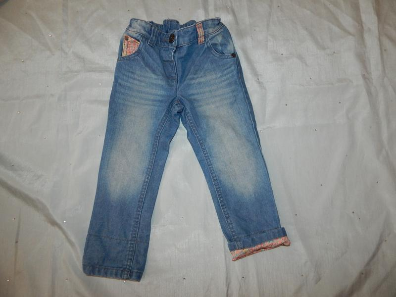 Джинсы на девочку стильные, модные 2 года 92 см