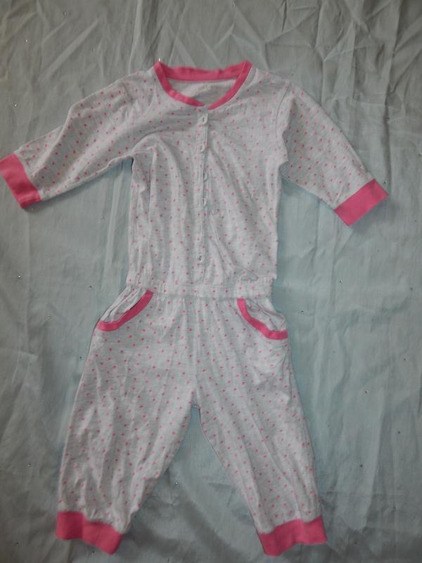 Пижама на девочку 7-8 лет ромпер человечек