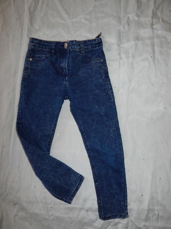 Джинсы на девочку стрейч  модные 6 лет skinny 116см