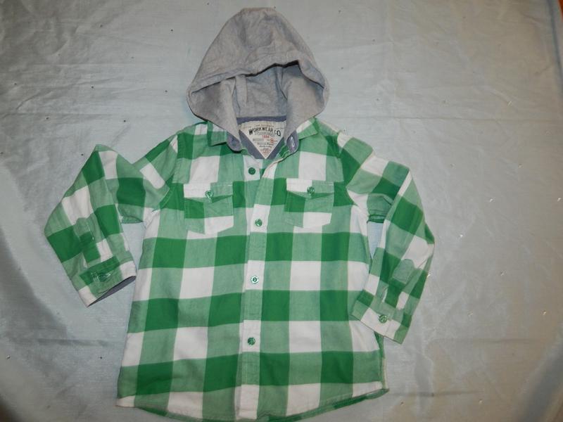 Рубашка модная в клетку на мальчика 5-6 лет116см