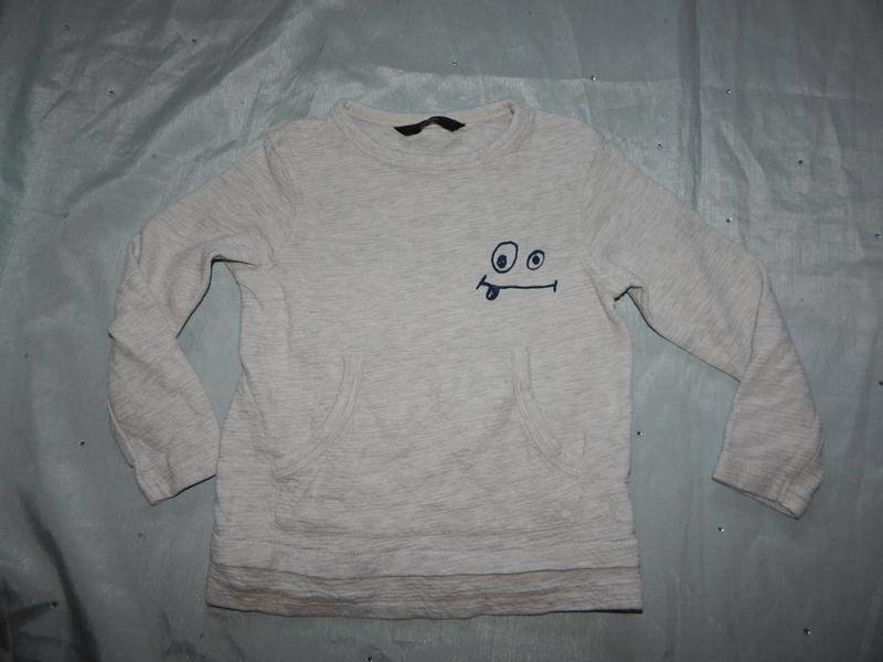 Свитшот кофта на мальчика 3-4 года 98-104см