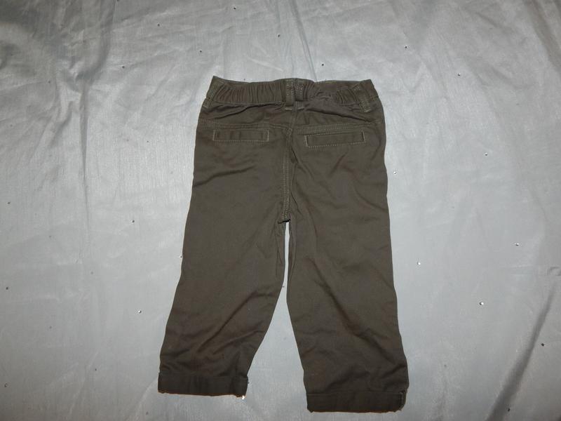 Штанишки брюки коттоновые на малыша 9-12 мес 80см - Фото 3
