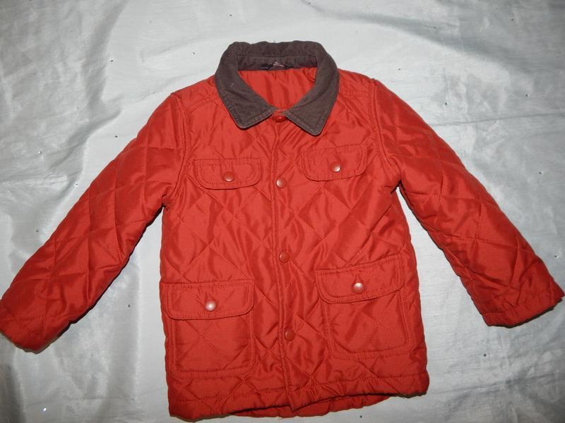 Куртка на мальчика деми стеганная 2-3 года 92-98см
