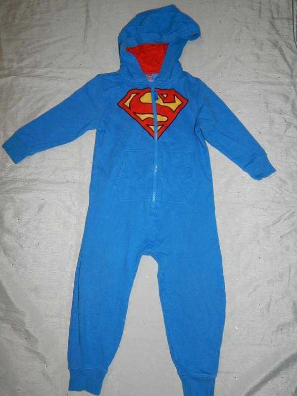 Пижама слип человечек на мальчика 3-4 года 104см