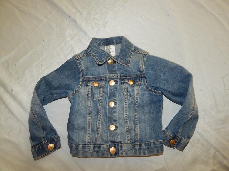 Куртка джинсовая на девочку 4-5 лет 110см
