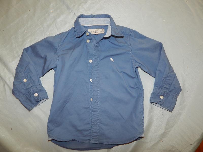 Рубашка  с длинным рукавом на мальчика 2-3 года 98см
