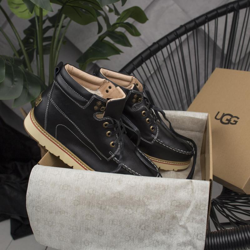 🔷угги мужские🔷зимние ugg, кожаные с мехом уги, ботинки