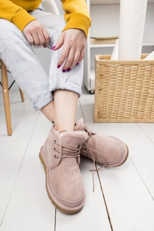 🌼угги женские🌼розовые замшевые шикарные уги-ботинки с мехом. ugg