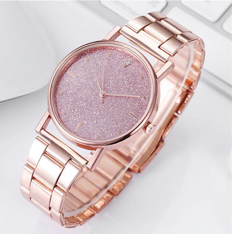 Часы наручные женские металлические цвета розового золота годи...