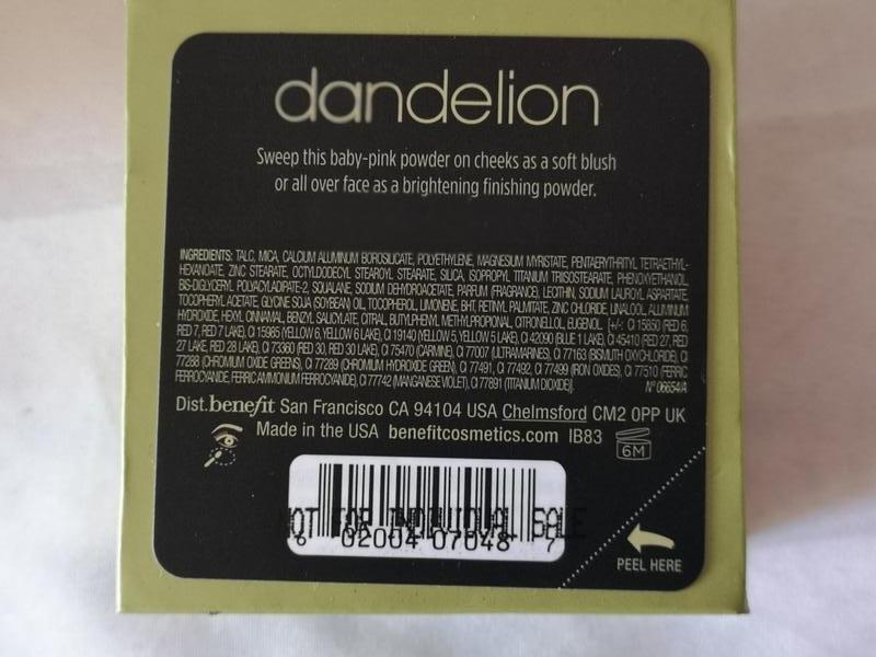Benefit dandelion осветляющая пудра для лица, 7 гр. - Фото 3