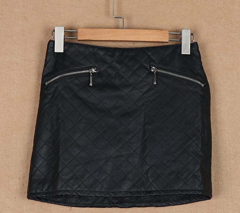 Zara  стильная юбка из искусственной кожи