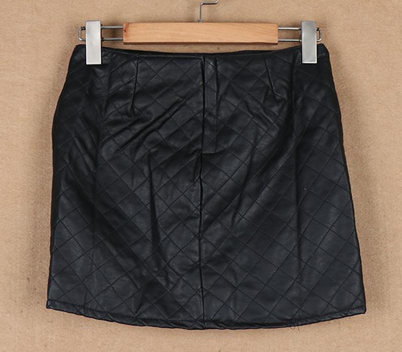 Zara  стильная юбка из искусственной кожи - Фото 2