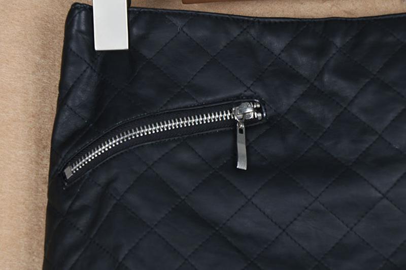 Zara  стильная юбка из искусственной кожи - Фото 3