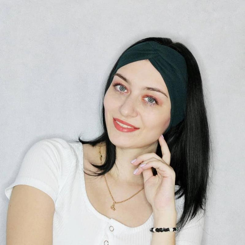 Широкая повязка на волосы, трикотажная чалма на голову