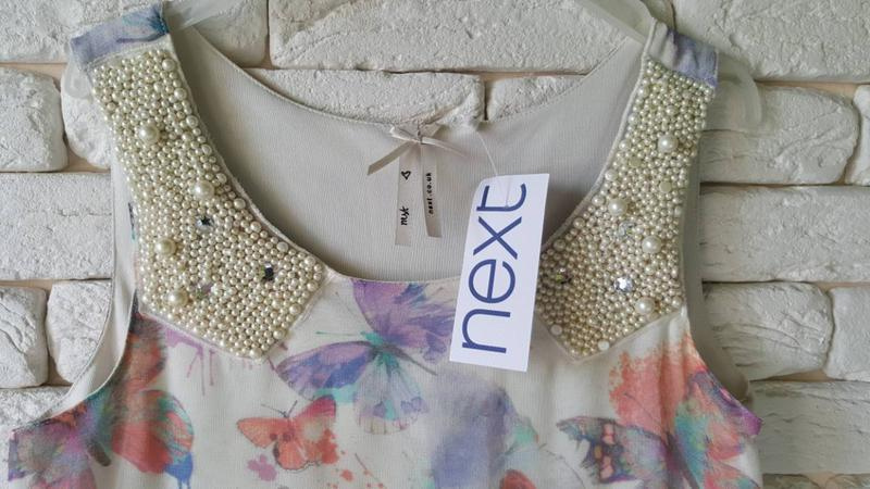 Новое нарядное платье next - Фото 4