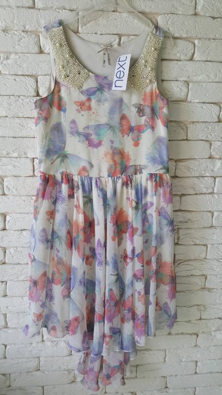 Новое нарядное платье next - Фото 5