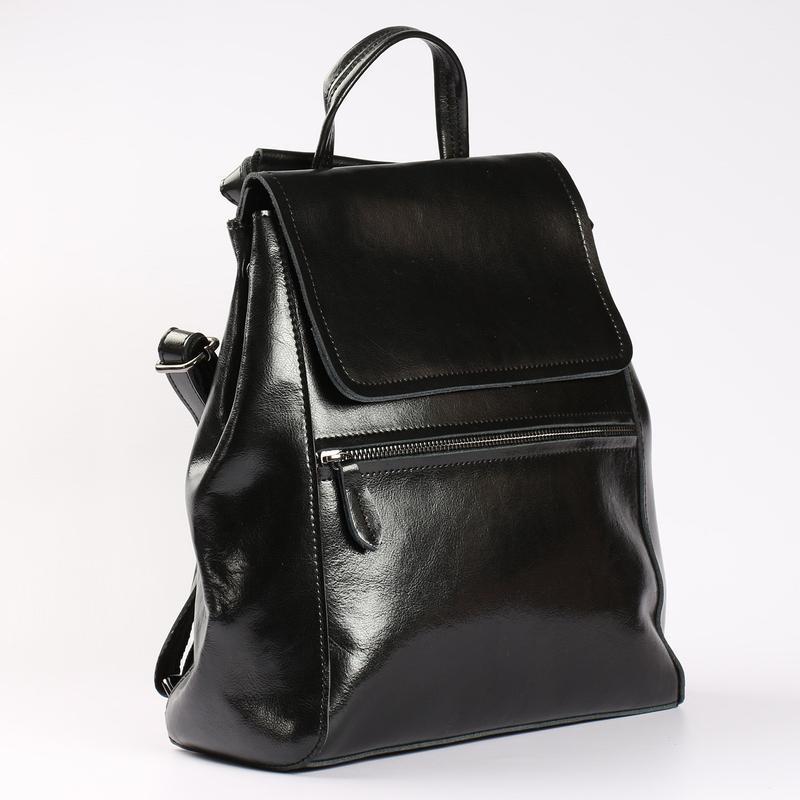 Есть наложенный платеж! кожаный рюкзак, сумка черная