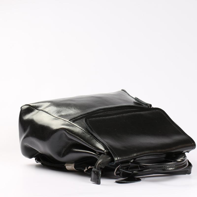 Есть наложенный платеж! кожаный рюкзак, сумка черная - Фото 6