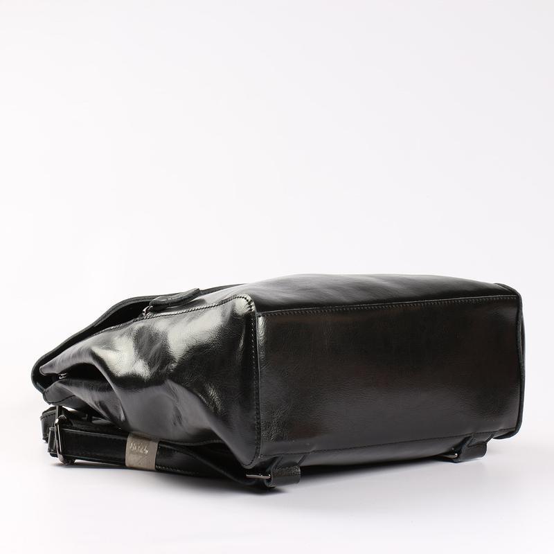 Есть наложенный платеж! кожаный рюкзак, сумка черная - Фото 9
