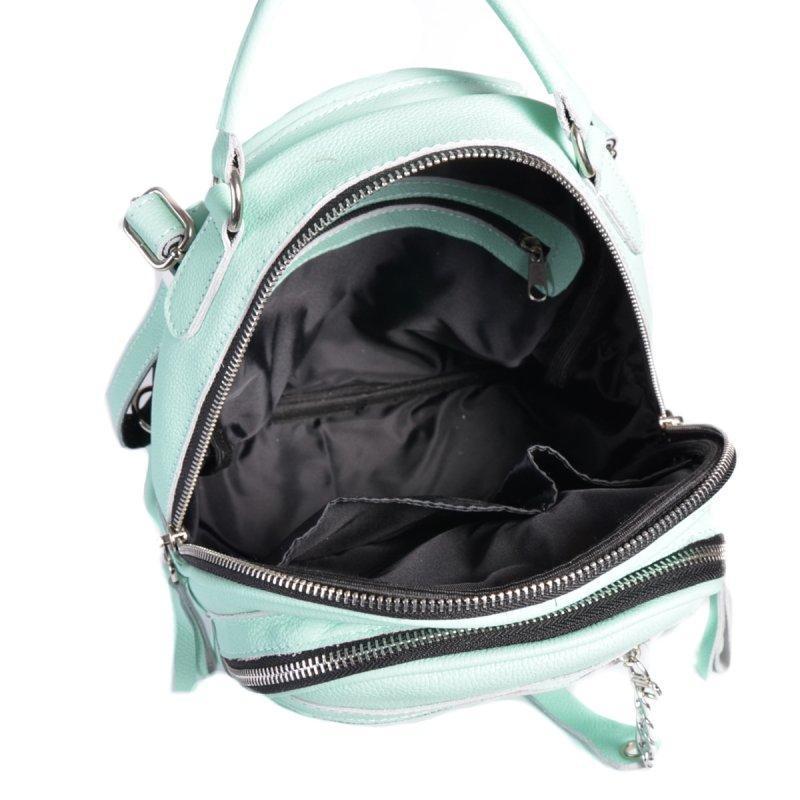 Женский кожаный рюкзак-сумка 2в1 натуральная кожа, сумка на плече - Фото 2