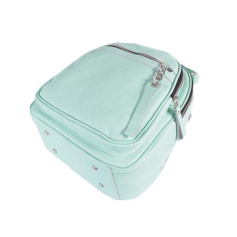Женский кожаный рюкзак-сумка 2в1 натуральная кожа, сумка на плече - Фото 3